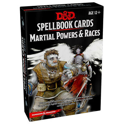 AU22.95 • Buy Dungeons & Dragons Spellbook Cards Martial Powers & Races NEW