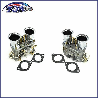 $ CDN217.47 • Buy 2Pcs Carburetor Set For Volkswagen Beetle 44 IDF Weber 2 BARREL Jaguar Porsche