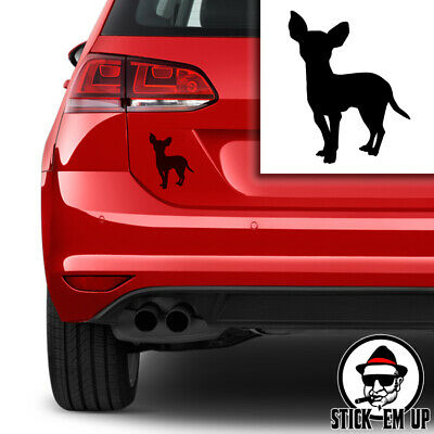 Chihuahua Dog Silhouette Car Vinyl Decal Laptop Sticker Animals Pets Puppy Pup  • 1.99£