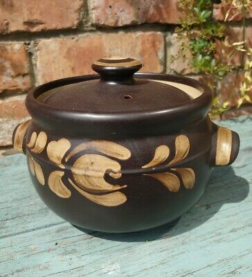 Vintage Denby Bakewell Small Casserole Dish Brown VGC • 10.50£