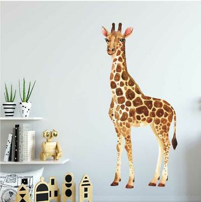 Animal Giraffe Wall Decal Kids Nursery Stickers Baby Cot Decor Art Mural Gift • 26.66£