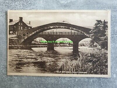 Pontypridd - Old Bridge - Sepia Frith Card Unposted • 5.99£
