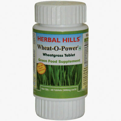 Herbal Hills Wheatgrass Green Food Supplement Tablet Helps Increase Energy Level • 87.50£
