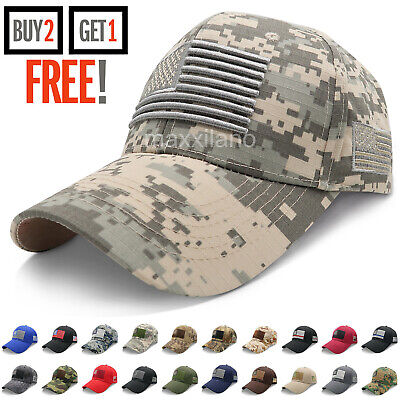 £7.82 • Buy Baseball Cap For Men Tactical Army Cotton Dad Hat USA American Flag Caps Trucker