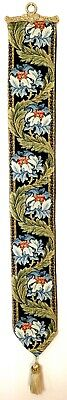 Holy Grail Lined Belgian Tapestry Bell Pull Wall Hanging + Brass Hanger 00245 • 44.98£