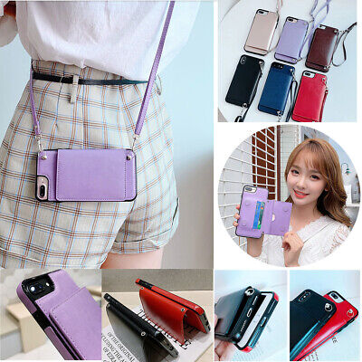 AU13.10 • Buy Cute Crossbody Wallet Card Holder Magnetic Flip Leather Lanyard Phone Case Cover
