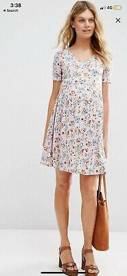 AU20 • Buy ASOS Maternity Tea Dress In Blue Floral Print