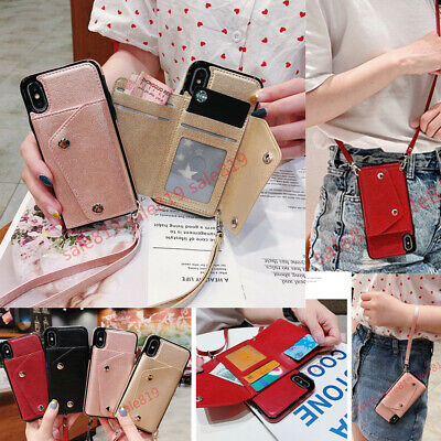 AU10.20 • Buy Crossbody Card Wallet Holder With Strap Flip PU Leather Bag Case Cover For Phone