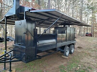 $24999 • Buy Mega T Rex Sink Roof BBQ Smoker Cooker Grill Trailer Mobile Food Truck Business