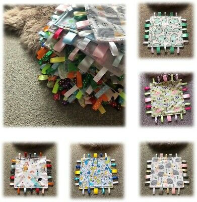 £5 • Buy Beautiful Soft Taggie Blanket/Comforter Sensory Toy - Available In Many Designs