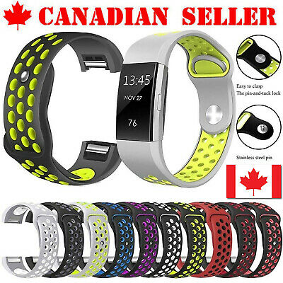 $ CDN11.99 • Buy For Fitbit Charge 2 Band Silicone Replacement Sport Bracelet Strap (Small/Large)