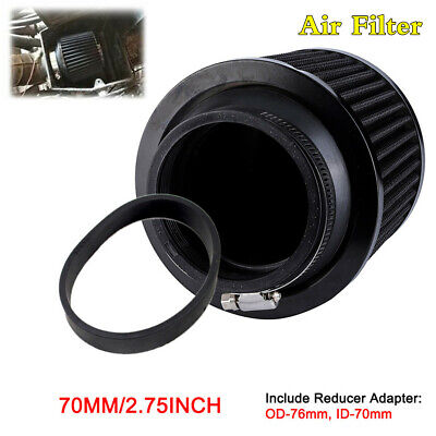 $22.89 • Buy 2.75  Air Intake Filter Aluminum Fabric Motorcycle Scooter Airbox+Rubber Adapter