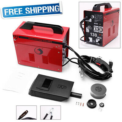 Portable Gasless MIG Welder 130 Amp Auto Flux Wire Feed Welding Machine 240V Kit • 106.99£
