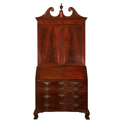 $15000 • Buy MAHOGANY BOOKCASE DESK | American Chippendale Antique Chest Of Drawers C. 1780