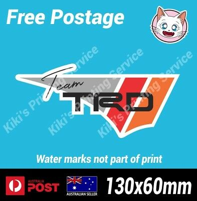 AU5.80 • Buy TRD Toyota Racing Vinyl Decal Sticker AE86 4age Drift JDM Japan 1JZ 2JZ 4agze