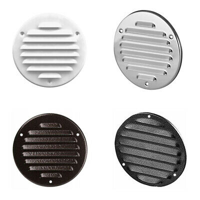 High Quality Metal Round Air Vent Grille With Fly Screen Duct Ventilation Cover • 4.63£