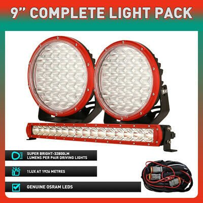 AU148.88 • Buy New OSRAM 22 Inch LED Light Bar + 9  Round Driving Spot Lights Offroad Truck SUV