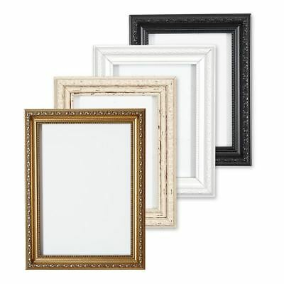 £34.60 • Buy Ornate Picture Frame Shabby Chic Picture Frame Photo Frames White Gold Or Black