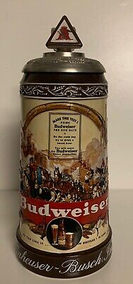 $ CDN36.29 • Buy Budweiser's Membership Lidded Stein Historical Advertising 1936 CB24