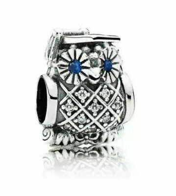 💎🎀 Sterling Silver 925 Owl Graduation Charm &  Pouch • 16.99£