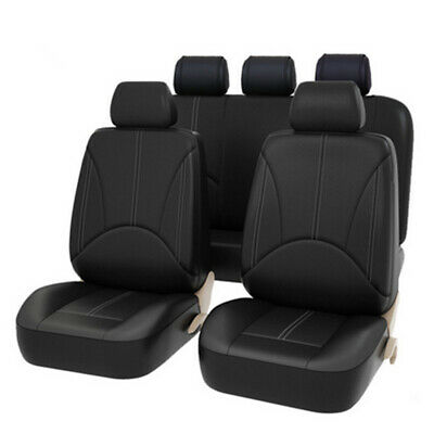 $ CDN45.27 • Buy Seat Cover Set Front Rear Integrated Bucket For Car Truck SUV PU Leather - 9pc