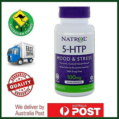 AU42.50 • Buy Natrol 5-HTP 200mg 30 Tablets - Double Strength, Calm Mood & Stress Support #164