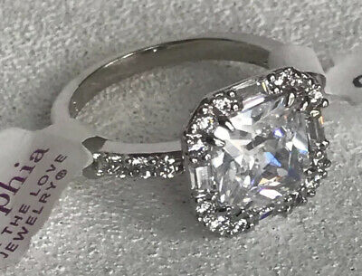 $ CDN56.79 • Buy Lia Sophia Stunner Ring Size 7 Silver Tone Breathtaking Rare Cz Accents Must See