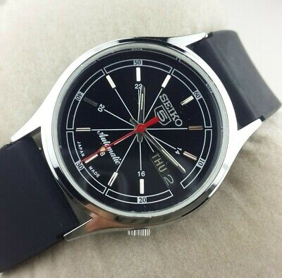 $ CDN64.88 • Buy Vintage Seiko 5 Excellent Black Dial  Automatic Japan Men's  Wrist Watch Mn.