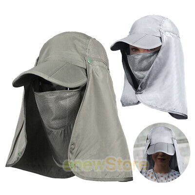 $12.87 • Buy Fishing Hat Sun Visor Cap Hat Sun Protection With Removable Ear Neck Flap Cover
