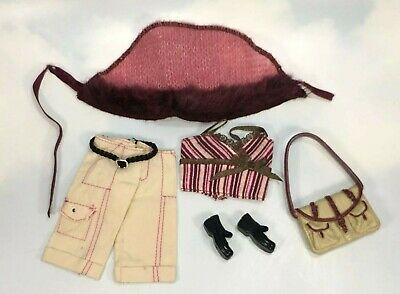 $7.95 • Buy Barbie Lindsay Doll Clothing: My Scene Fashion Fever Pieces Burgundy Beige Purse