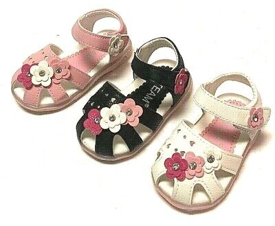 $8.99 • Buy Newborn Baby Girl Soft Sole Crib Shoes Infant Toddler Summer Sandals With Light