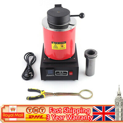 NEW 2KG Electric Crucible Furnace Metal Melting Furnace Smelting Furnace DHL • 185£