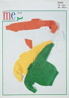 £3.15 • Buy Jarol Knitting Pattern Cable Sweaters Textured 18-26  DK Baby Boys Girls 393