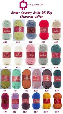 Sirdar Country Style Double Knit 50g - Clearance Colours - £1.75 Per Ball • 1.75£