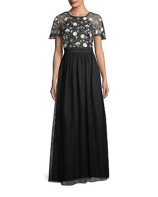 $78.99 • Buy Aidan Mattox Hand-Beaded Tulle Evening Gown MSRP $265 Size 12 # 3A 232 NEW