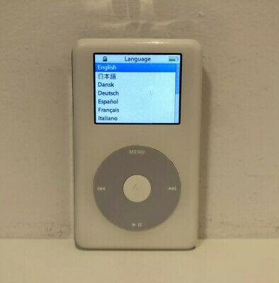 £38.94 • Buy Apple IPod Photo Classic 4th Generation White (20 GB) W/ New Battery #