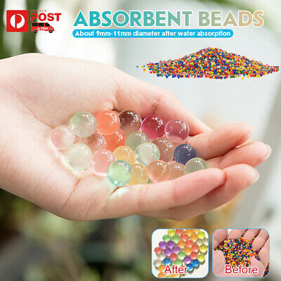 AU5.59 • Buy 50000Pcs Hi-Q Crystal Soil Orbeez Water Balls Jelly Gel Beads Plant Vase Wedding