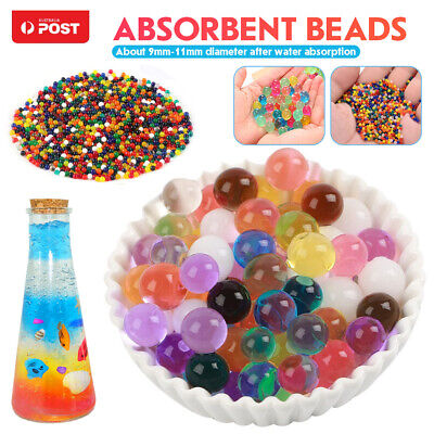 AU5.59 • Buy 50000 Crystal Soil Orbeez Water Balls Jelly Gel Beads Plant Vase Home Decoration
