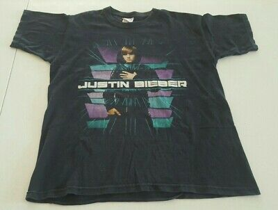 AU29.97 • Buy Justin Bieber 2011 My World Tour T-Shirt Size: Medium