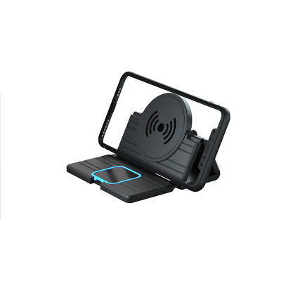 $ CDN27.21 • Buy 15W Fast Qi Wireless Charger Charging Pad Phone Holder Stand Car Dashboard Mount