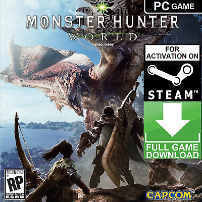 AU48.12 • Buy MONSTER HUNTER: WORLD PC Game Steam Key GLOBAL [KEY ONLY] FAST DELIVERY!!!