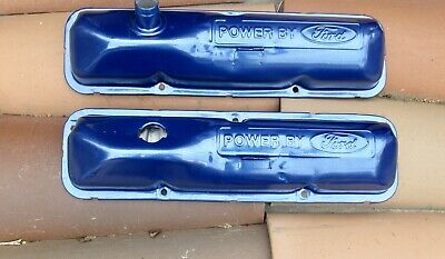$149 • Buy Ford 390 428 Fe Oem Power By Ford Valve Covers Big Block 427 406 410 352 360