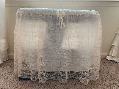 $21.99 • Buy Vintage 1940s-1950s Bassinet Lining With Sheer Skirt With Attached Liner