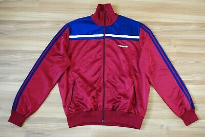 VINTAGE ADIDAS TRACK TOP JACKET 1980s MADE IN WEST GERMANY SCHWINGKLUB ZÜRICH XL • 42.45£