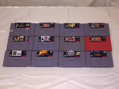 $ CDN205 • Buy Lot Of 12 Snes Games Doom / Secret Of Evermore / Mortal Kombat 2 & 3 / SF 2