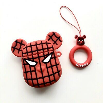 $8.50 • Buy Kawaii Spider Man Bearbrick Head Character Airpods Case Silicone Case Only Cute