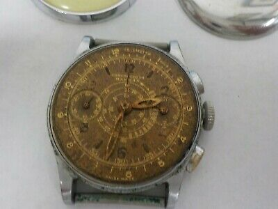 $ CDN1015.01 • Buy Vintage Rare Mens Harman Chronograph Military Telemeter Watch Just Serviced
