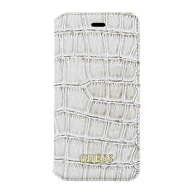 Genuine GUESS 4G Collection Croc Book Case For IPhone SE, 5s & 5 In Beige • 7.46£