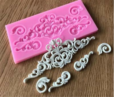 £2.65 • Buy Silicone Baroque Sculpted Flower Lace Fondant Mould Cake Decor Sugar Mold IT