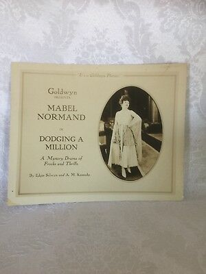 """$700 • Buy Mabel Normand Lobby Card Set (10 Cards) """"dodging A Million"""" 1918 Silent Classic"""